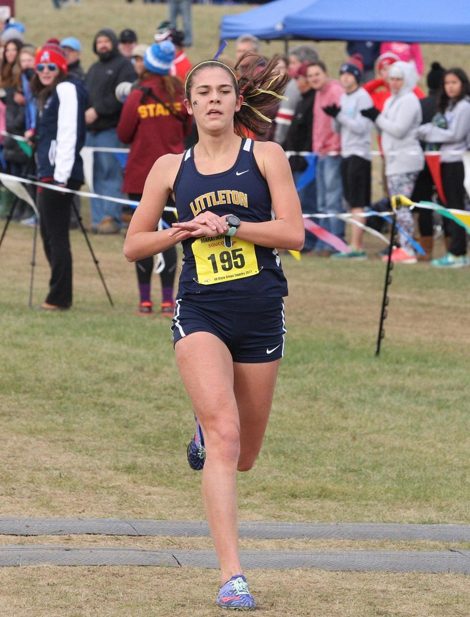 Littleton junior Sarah Roffman was right on time in the Division 2 race.