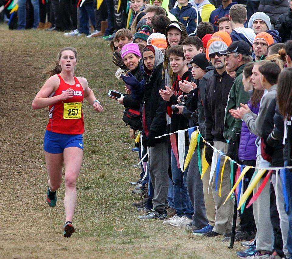Natick's Grace Connolly had the course to herself — except for the fans.