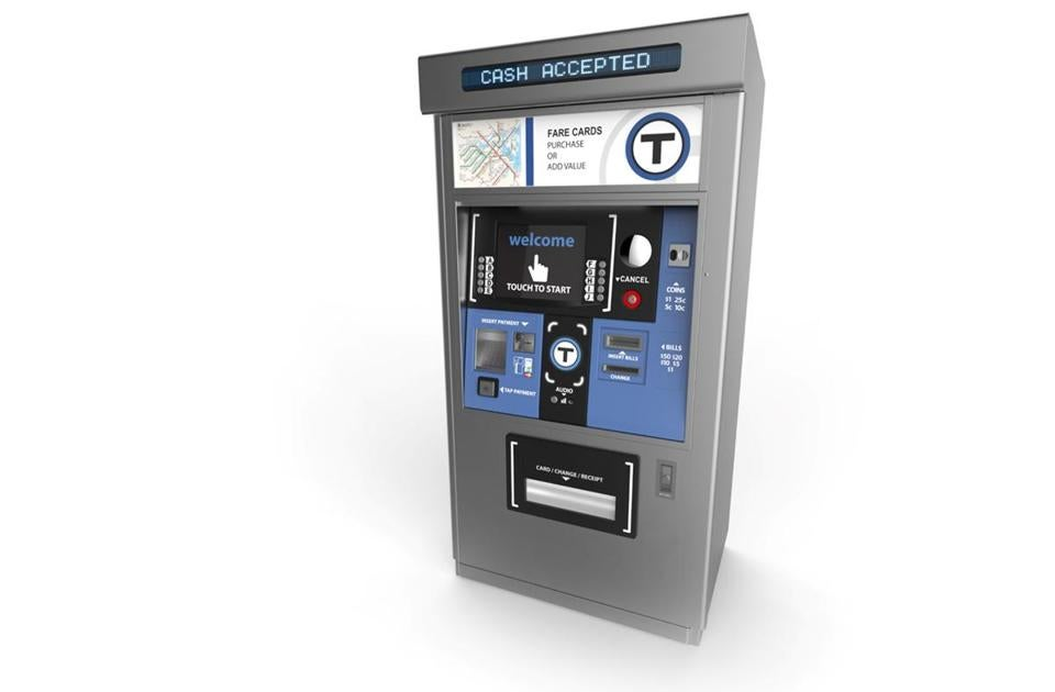 A rendering of the vending machines planned for use in the MBTA's subway stations.