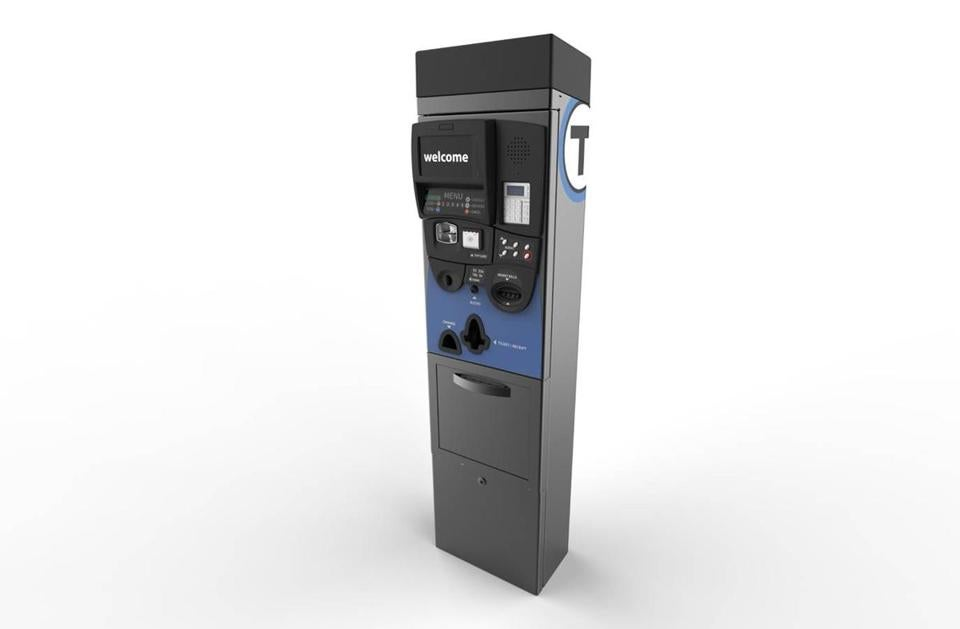 A rendering of the vending machines planned for use along the MBTA's bus system.