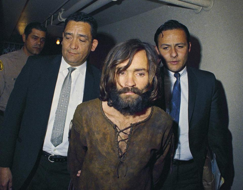 Charles Manson was escorted to his arraignment in 1969.