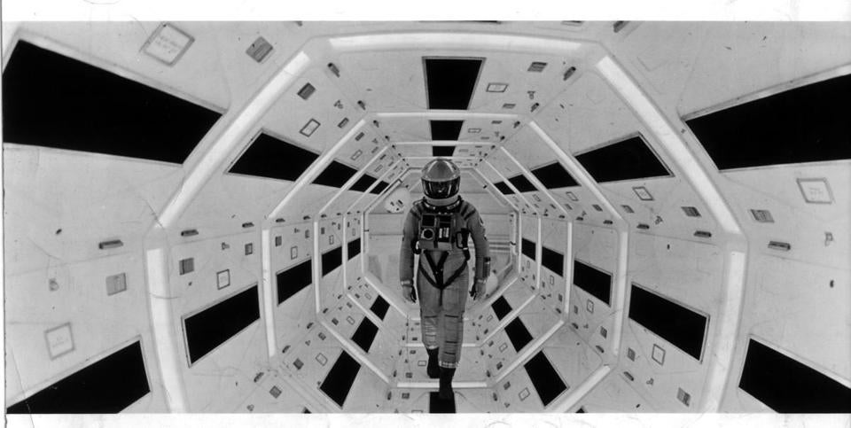 "MOVIES A scene from the 1968 science-fiction movie '2001: A Space Odyssey.' Credit: MGM published in NYT 10/26/84 (daily) published in NYT 07/30/89 (Guide) Published in NYT 04/01/97 Published Caption: Above, an image from the film ""2001: A Space Odyssey."" Published Credit: MGM Published in NYTimes 01/07/01 WEEK IN REVIEW section Published Caption: ''2001: A Space Odyssey,'' the 1968 Stanley Kubrick film that launched a thousand cliched headlines. (MGM) Published in NYTimes 10/21/05 WEEKEND section Published Caption: A scene from ""2001: A Space Odyssey"" (1968), at the Museum of the Moving Image. (MGM) Library Tag 02252008"
