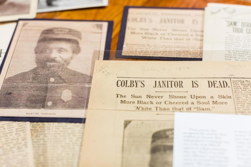 This semester, students are taking a class on Colby history in which they are examining the materials in the school's archives about the Osborne family.