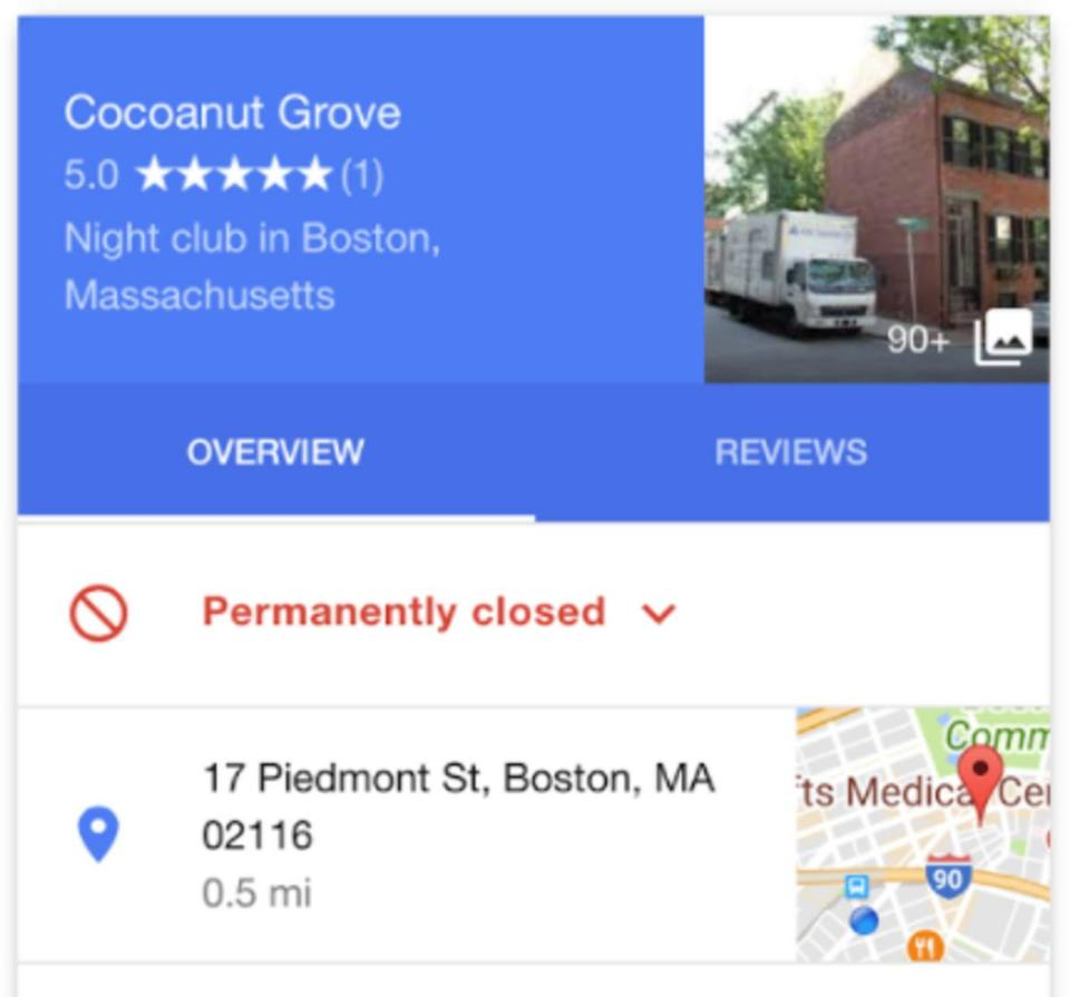 A disaster remembered, via Google Maps - The Boston Globe