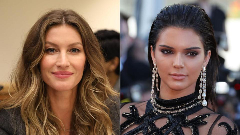 Gisele Bundchen (left) and Kendall Jenner.
