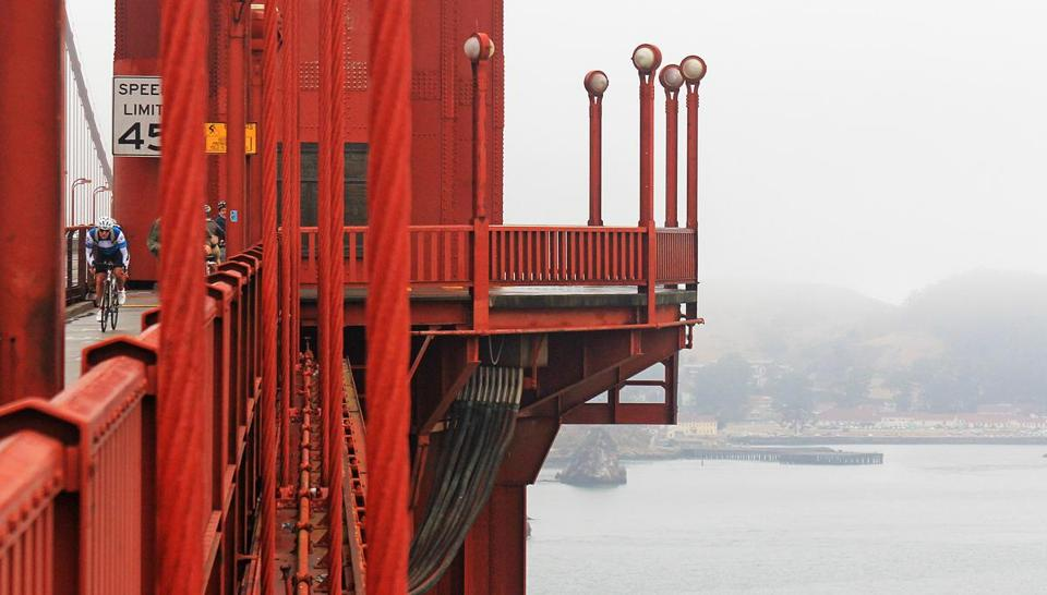 When the South Tower of the Golden Gate Bridge was built, 746 feet above the waterline, its height rivaled those of the tallest buildings in the world. Upon its opening in 1937, it was the largest suspension bridge at the time.