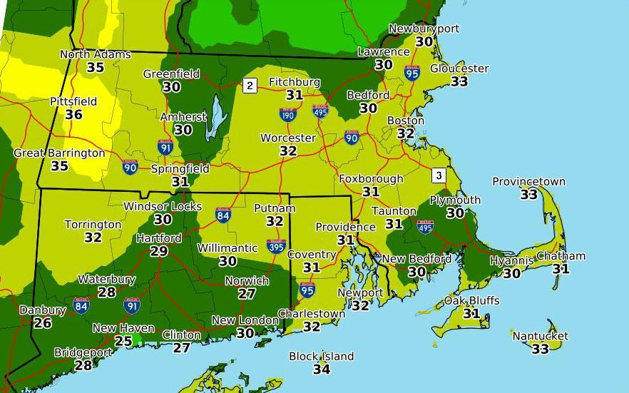 Wind gusts might exceed 30 miles per hour in some areas on Sunday.