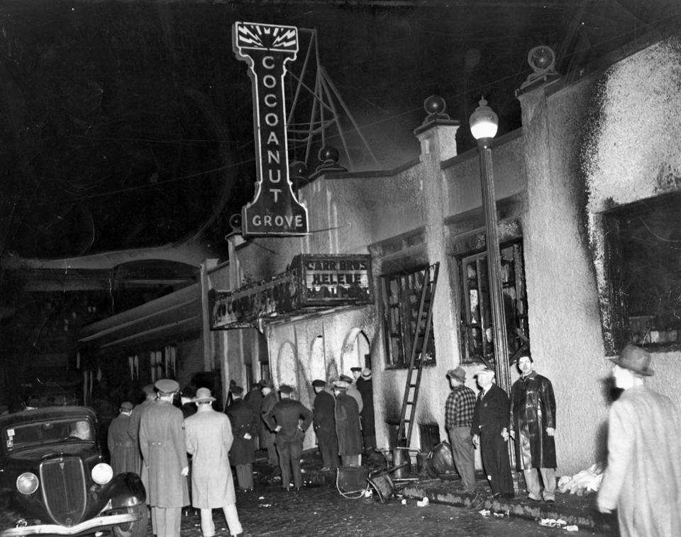 The outside of the Cocoanut Grove nightclub.