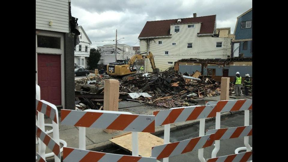 Johnny D's in Somerville was demolished on Monday.