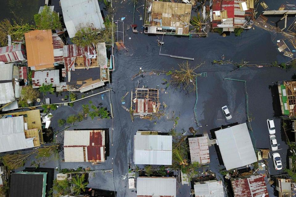 Aftermath of Hurricane Maria in Catano, Puerto Rico.