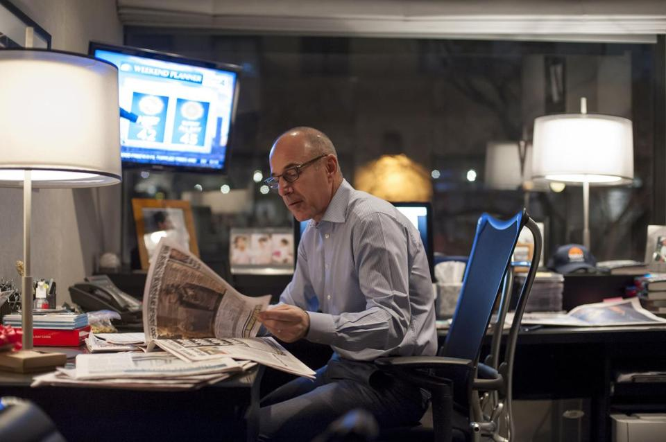 "Matt Lauer prepared for the broadcast of the ""Today"" show in New York."