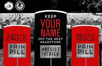 One of the #ResistTheRisk public awareness campaign ads.