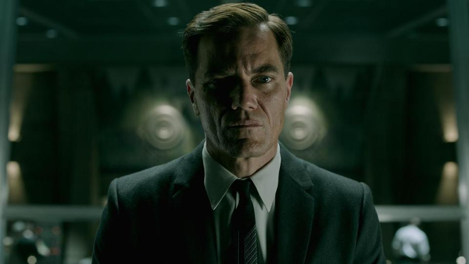 "Michael Shannon in (from top) ""The Shape of Water,"" ""Take Shelter,"" and ""Nocturnal Animals."""