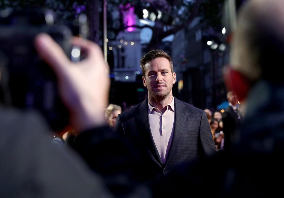 Armie Hammer at the BFI London Film Festival in October.