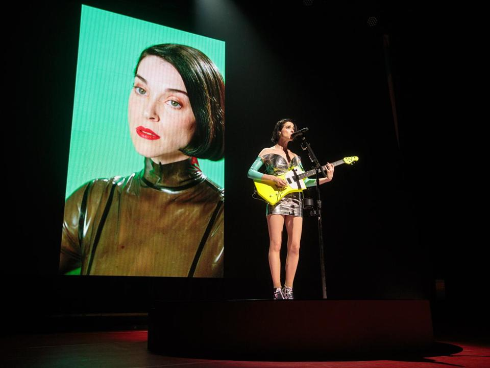 St. Vincent performs at the House of Blues Thursday night.
