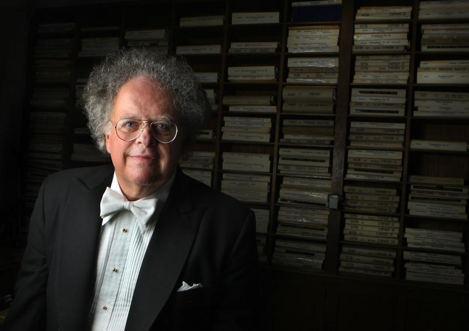 James Levine in the BSO library in 2009.
