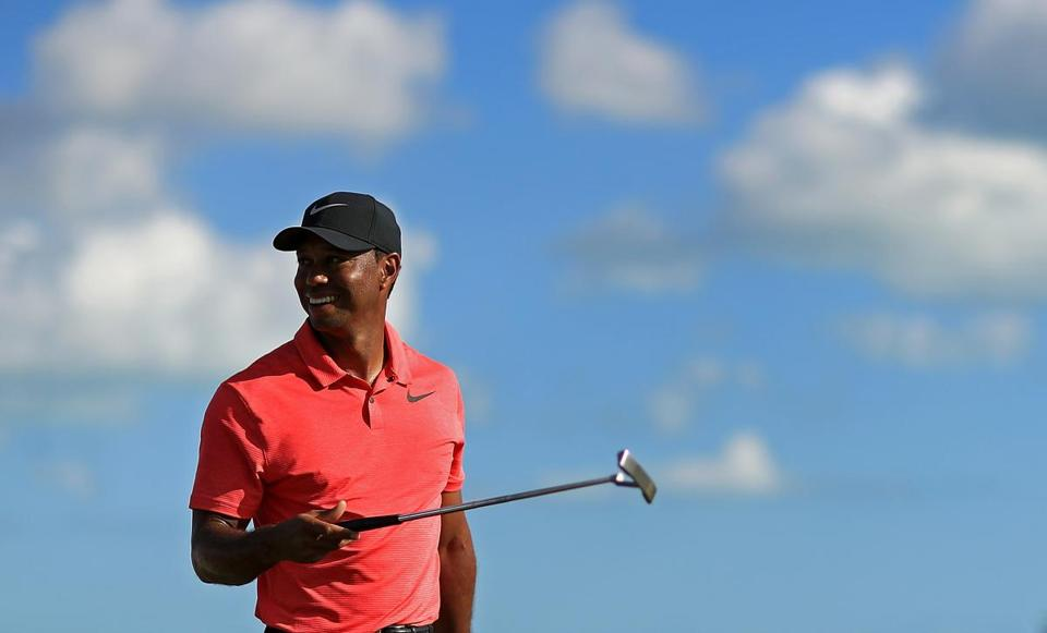 NASSAU, BAHAMAS - DECEMBER 03: Tiger Woods of the United States walks off the 18th hole during the final round of the Hero World Challenge at Albany, Bahamas on December 3, 2017 in Nassau, Bahamas. (Photo by Mike Ehrmann/Getty Images)