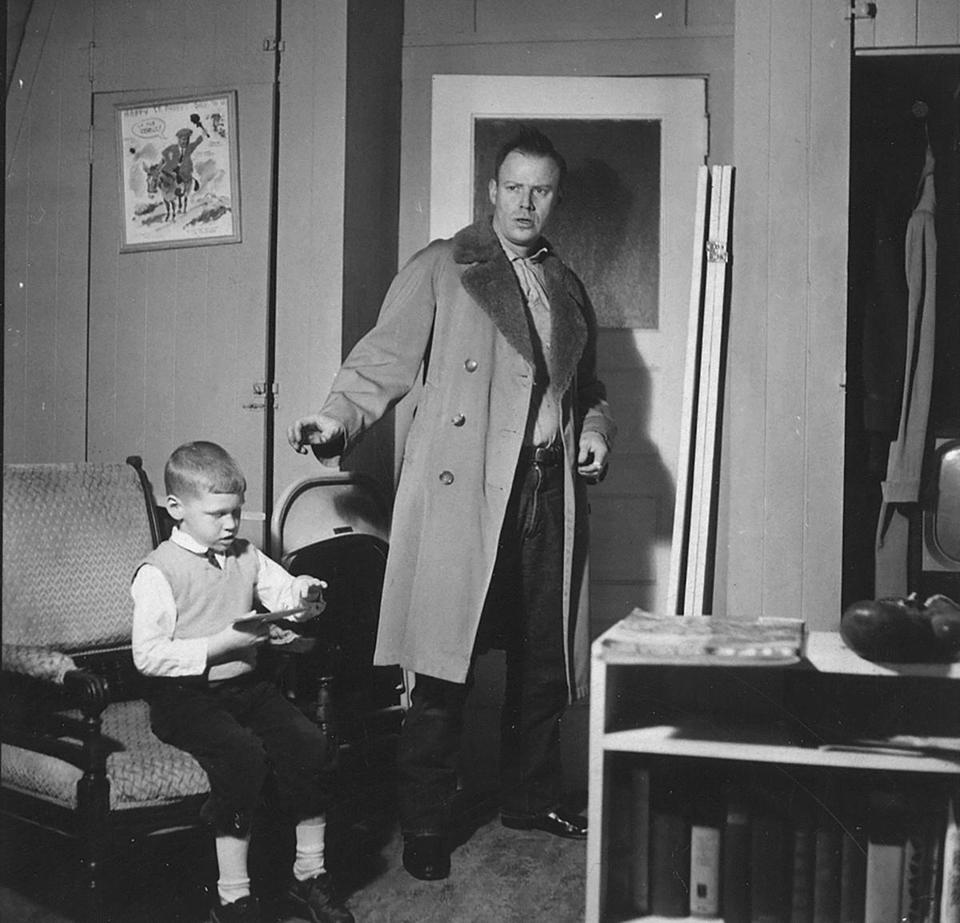 "Cullen Murphy with his father, artist John Cullen Murphy who drew the comic strips ""Big Ben Bolt"" and ""Prince Valiant."""