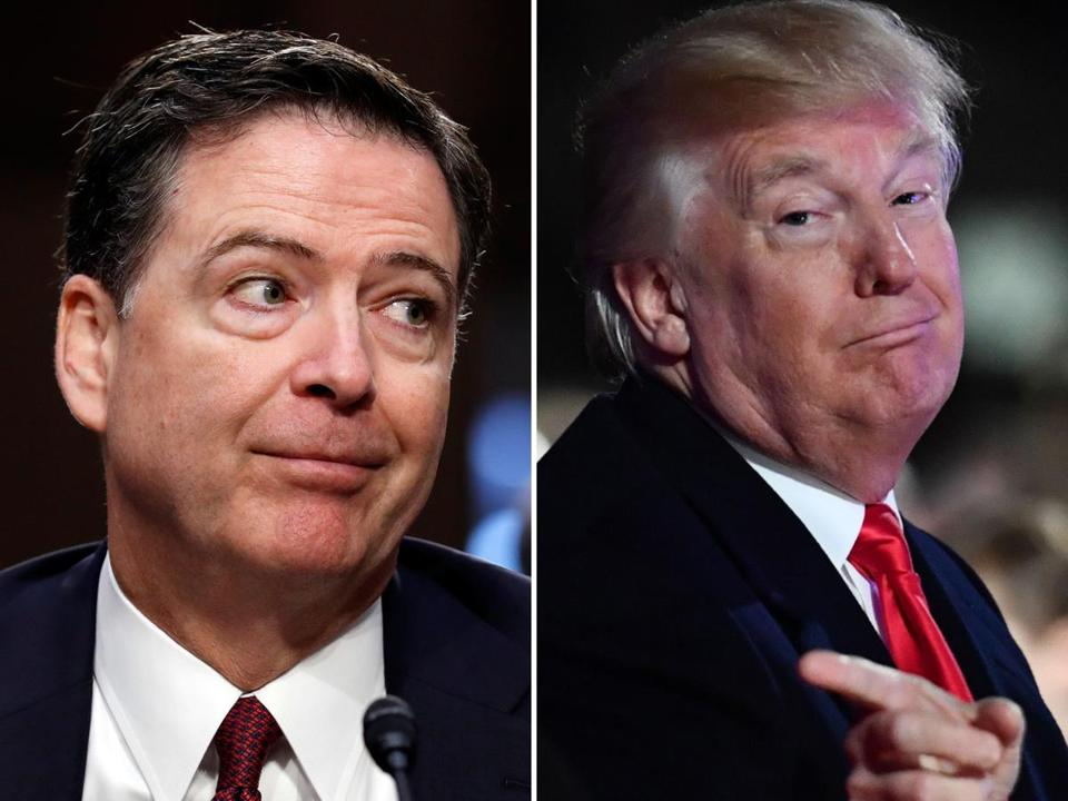 James Comey either 'very sick or very dumb,' Trump says ...