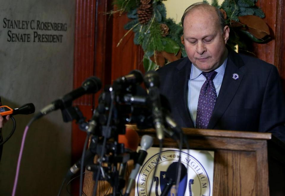 State Senate President Stanley C. Rosenberg spoke last week at the State House.