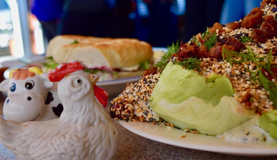 The wedge salad at the wildly popular New Orleans restaurant Turkey and the Wolf.