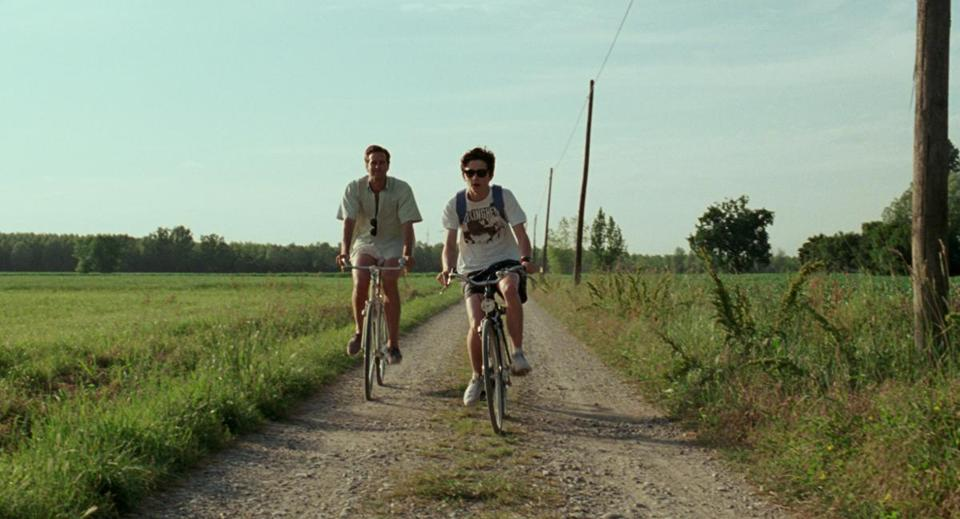 "Armie Hammer (left) and Timothée Chalamet in Luca Guadagnino's ""Call Me by Your Name."""