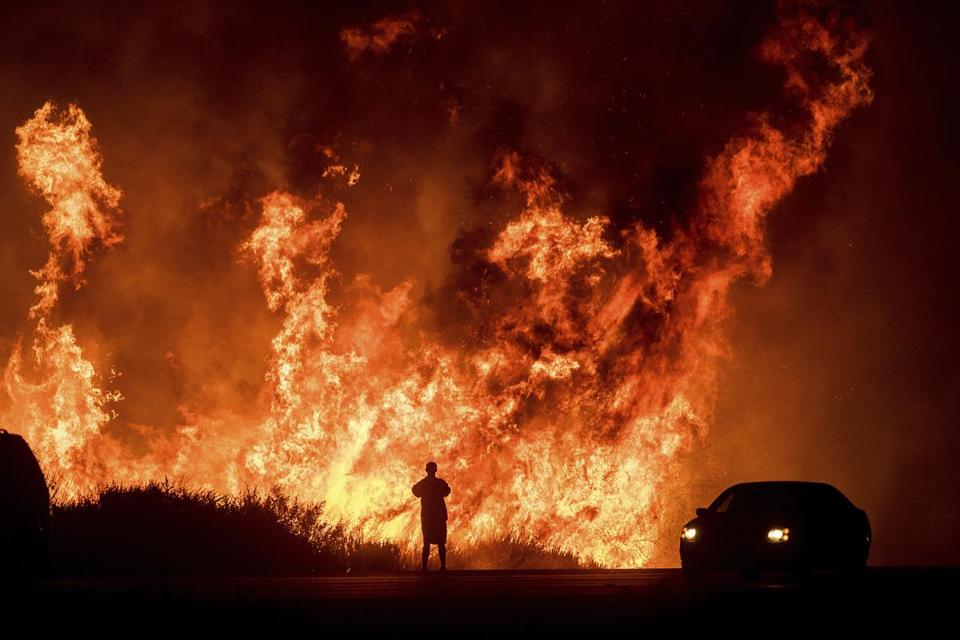 California fires roar again