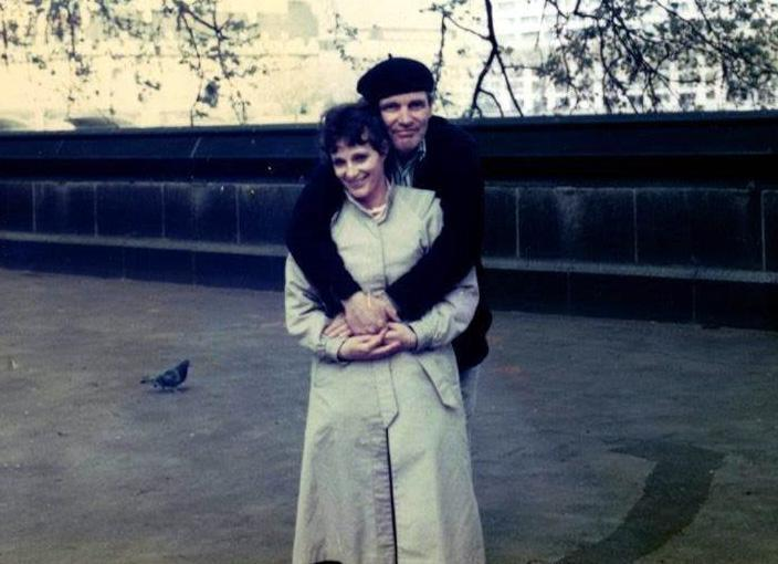 Frank Rooney and Lois Ascher in London in the 1990s.