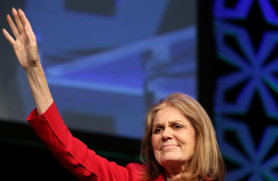 "Gloria Steinem addresses the crown during ""The Longest Revolution: Wisdom and Hope for Today and Tomorrow, A Conversation With: Gloria Steinem, women's rights pioneer and advocate"" during the Massachusetts Conference For Woman at the Boston Convention and Exhibition Center."