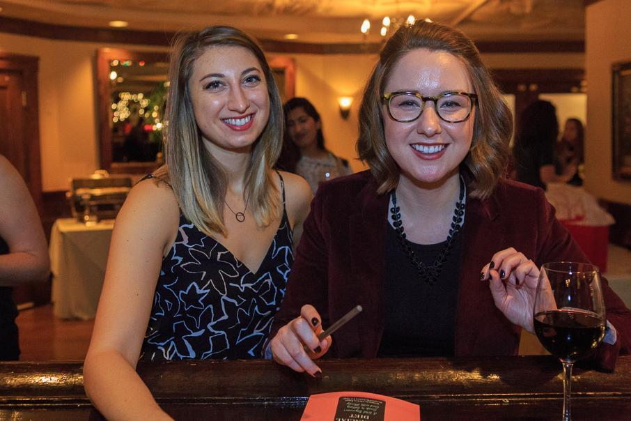 Lauren Ver Hage (left) and Chelsea Fagan at Maggiano's.