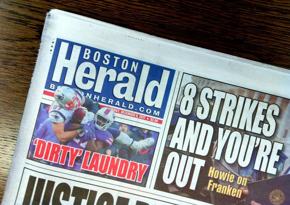 Daily print sales of the Herald have fallen to roughly 45,000 from 300,000-plus in 1994.