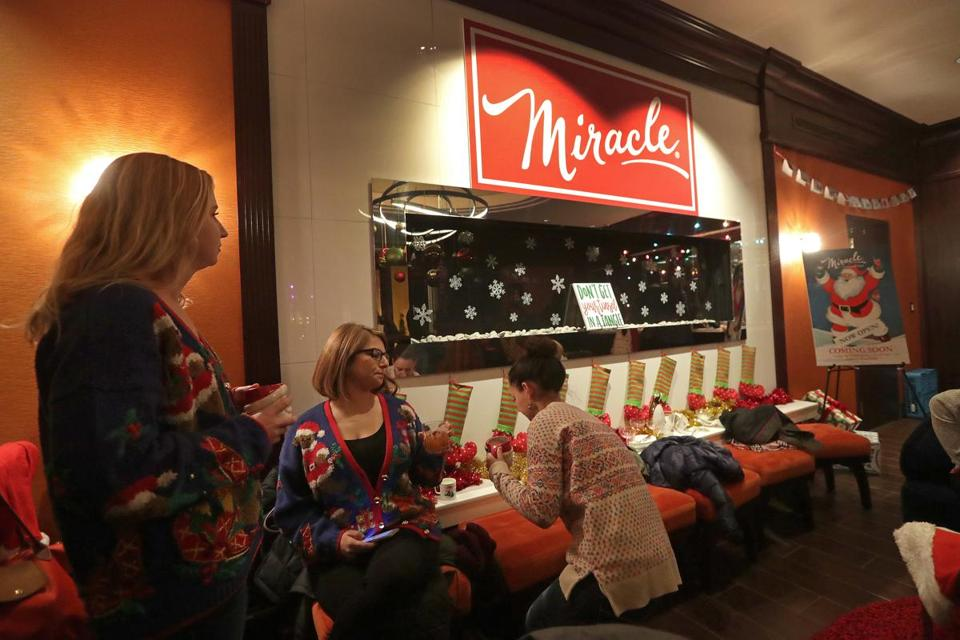 Located in the Kimpton Marlowe Hotel lobby, Miracle Bar is a Christmas-themed pop-up bar decked out with lights, garlands, and specialty cocktails.