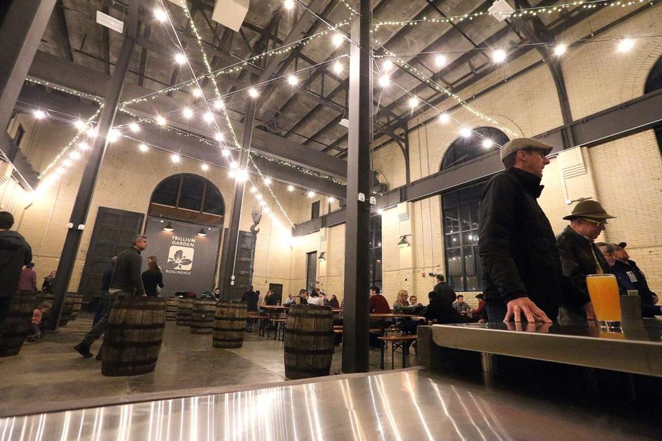 Craft brewer Trillium Brewing Co. opened a winter beer garden earlier this week in the Roslindale substation.