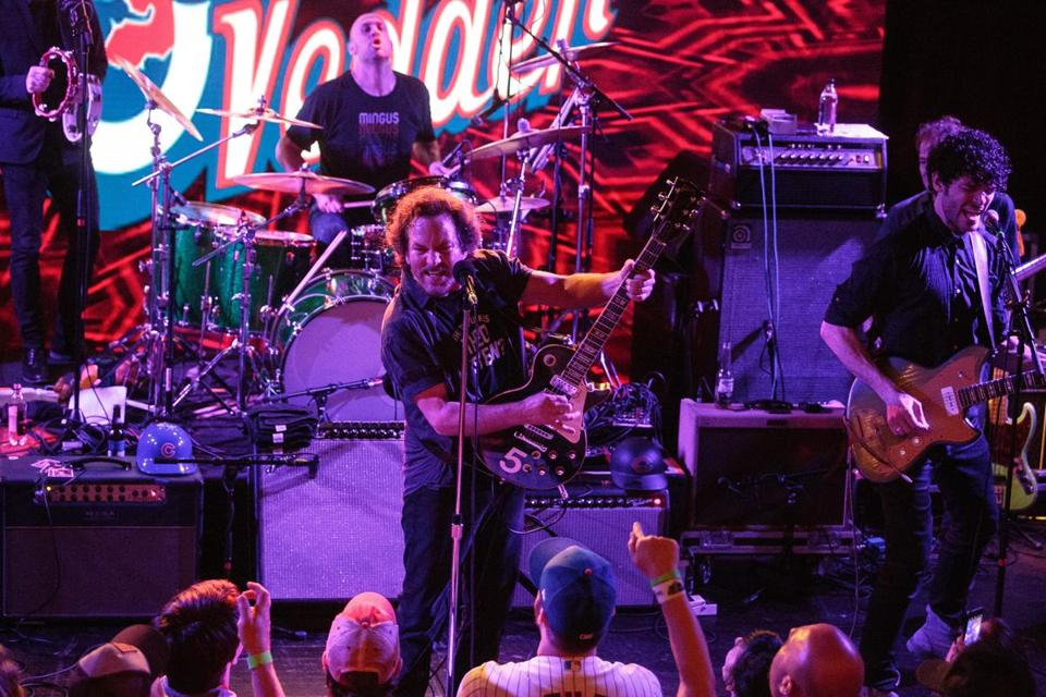 Eddie Vedder of Pearl Jam performing at Hot Stove Cool Music last April.