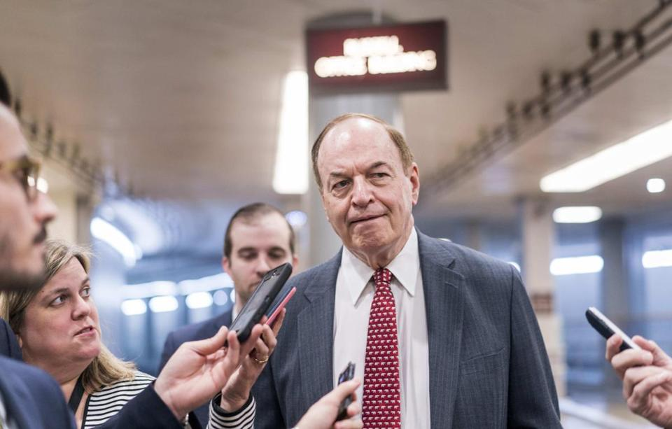 US Senator Richard C. Shelby, Republican of Alabama, spoke to reporters last month.