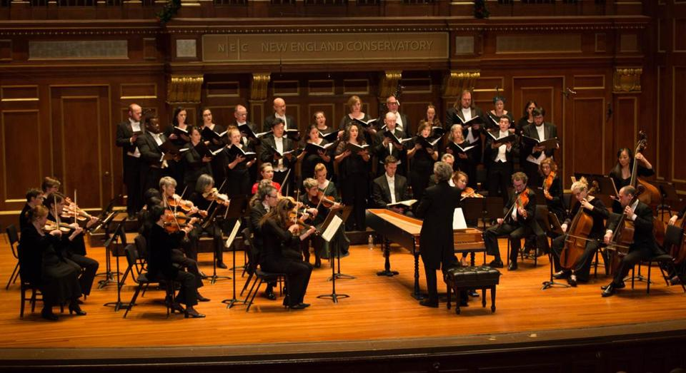 "Boston Baroque performing Handel's ""Messiah"" at Jordan Hall."
