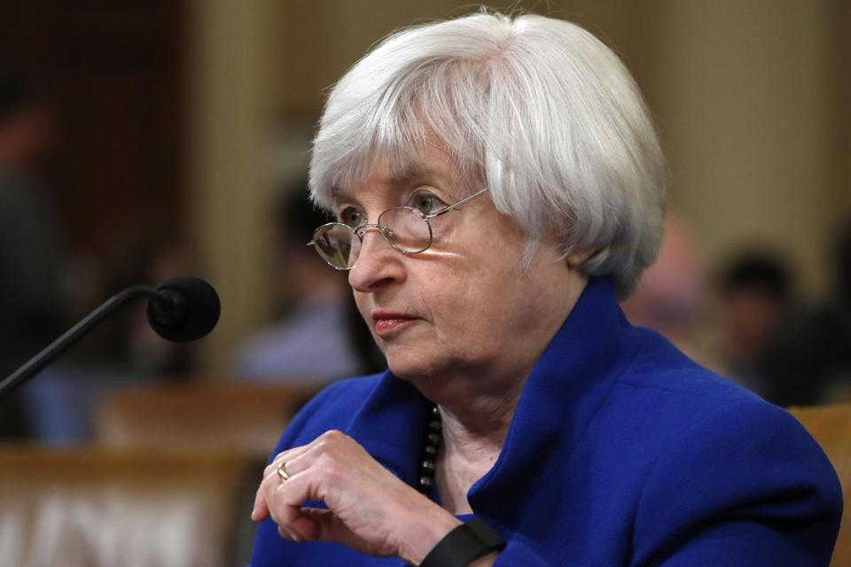 Janet Yellen on Wednesday is expected to hold her last news conferfence as chair of the Federal Reserve.