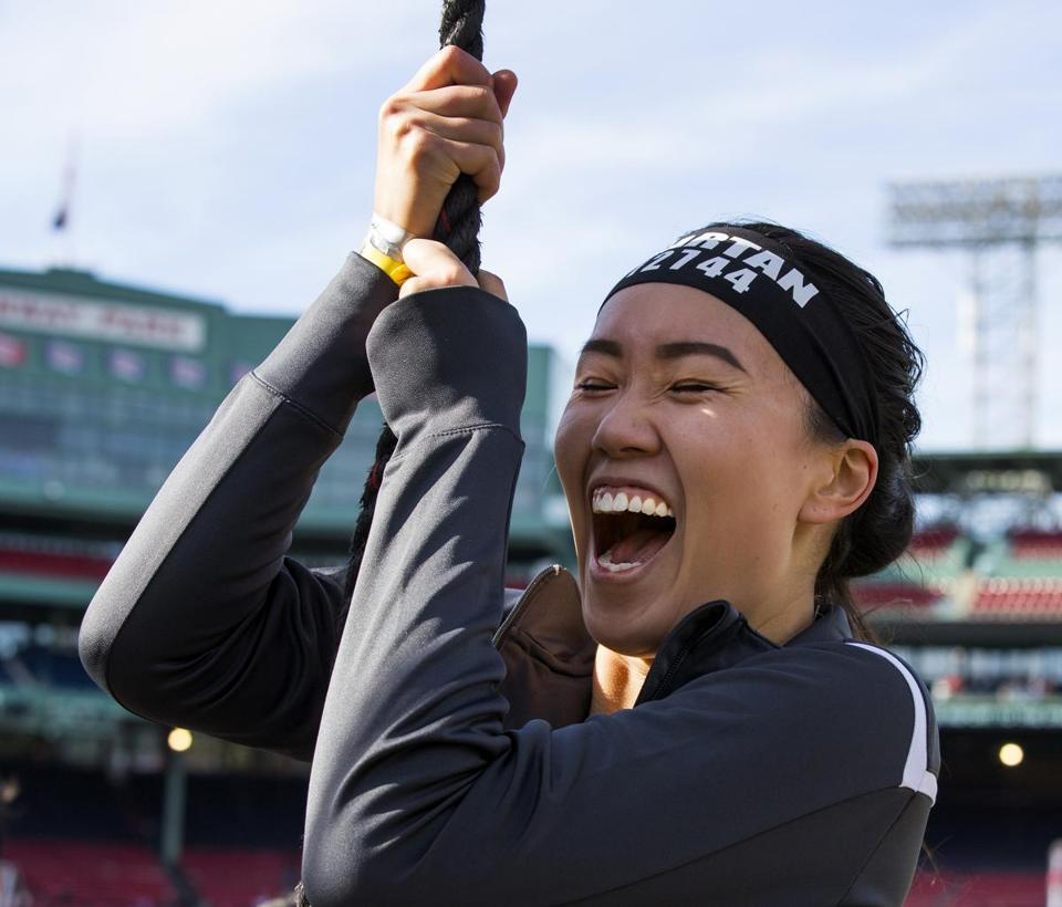 "Nov. 4 2017-Boston, Ma- Stan Grossfeld/Globe Staff—Photo Opportunity Spartan Transforms Fenway Park into an Obstacle Racing Battleground for 14,000 Competitors – November 4 & 5 Athletes of All Ages and Skill Levels to Compete in Three-Mile ""Stadium Sprint"" Race Course with 20 Obstacles; Participants Include Adaptive Athletes, Military Veterans and Kids WHO: More than 14,000 competitors of all ages and skill levels, including kids 4 years old and up. Notable participants include: • Pro obstacle course (OCR) racers Kate Cramer and Robert Killian • Adaptive Athletes/Military Veterans from the Oscar Mike Foundation • More than 500 kids from local schools and community centers WHAT: Spartan turns Fenway Park into a challenging obstacle race course as part of the Boston-based endurance brand's 2017 ""Stadium Series."" The Reebok Spartan Race event will bring a three-mile ""Sprint"" course with more than 20 obstacles to the confines of the storied ballpark, providing athletes with unique access while testing their strength and agility. Competitors will climb steep stairs, race down narrow concourses with sharp turns and conquer walls, rope climbs, monkey bars, burpees in the locker rooms and more."