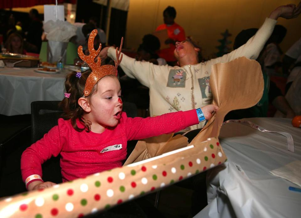 Alivia Nixon was excited when she ripped open a present during last year's Christmas in the City.