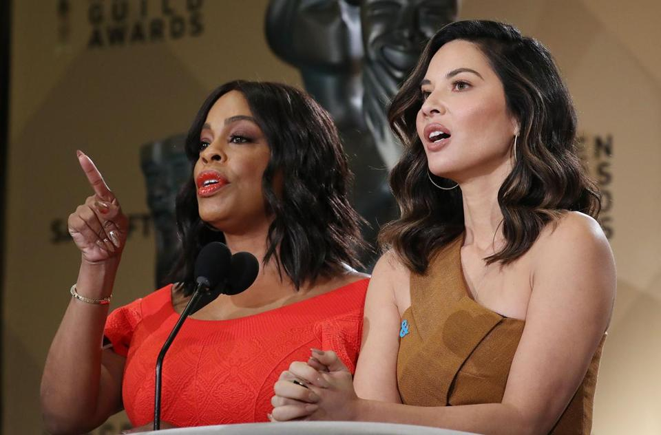 Niecy Nash and Olivia Munn announced the Screen Actors Guild nominations.