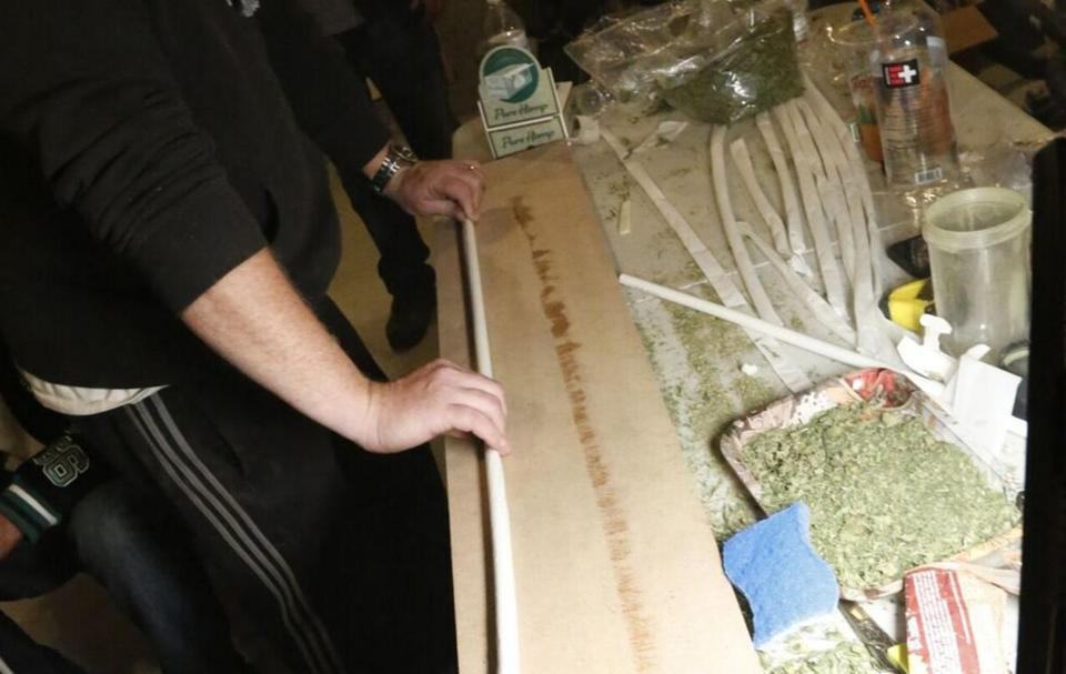 Beantown Greentown is trying to build a 100-foot-long joint this weekend at a marijuana expo event in Worcester. This is a practice run.