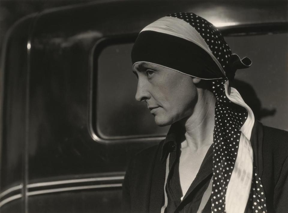 Georgia O'Keeffe in 1929 as a model for her husband, Alfred Stieglitz.