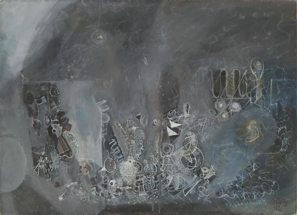 "Mark Tobey's ""The Void Devouring the Gadget Era."""