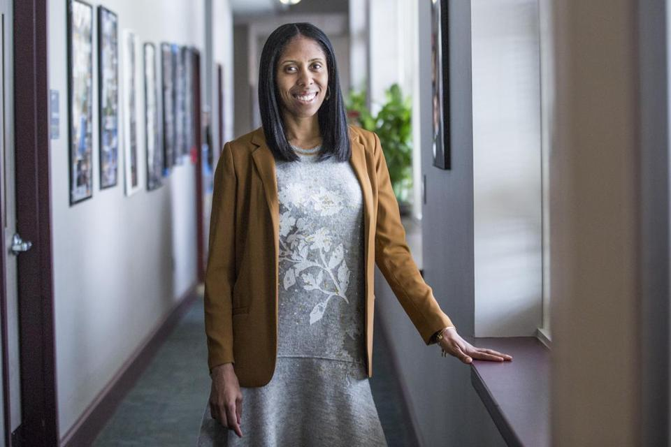 Incoming Boston Latin School Deputy Chief of Leadership Development and former Eastern Senior High School Principal Rachel Skerrit poses for a portrait at Eastern Senior High School in Washington D.C., Thursday, March 30, 2017. (Zach Gibson for the Boston Globe)