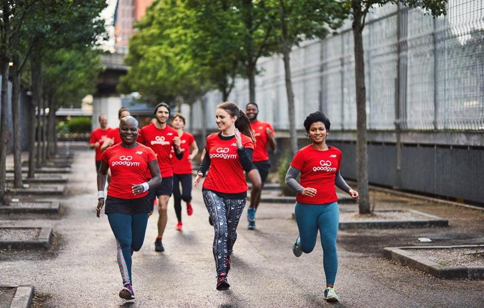 GoodGym, which operates in the UK, organizes sessions that have people exercise while simultaneously doing good deeds in their own community.