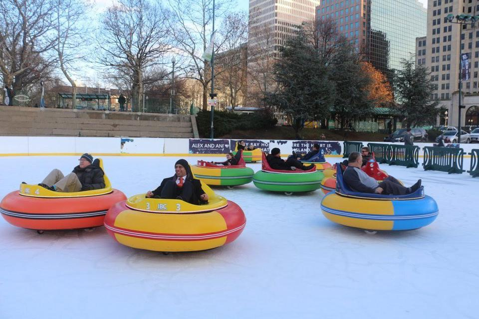 Providence Has Bumper Cars That Slide Around On An Ice Skating Rink