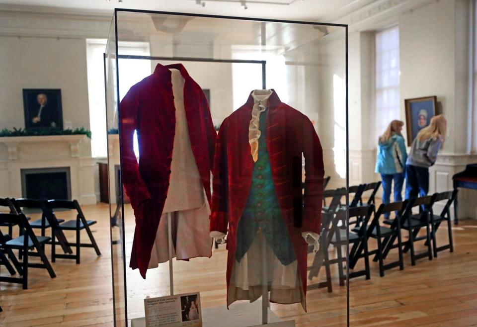 Genial The Coat On The Right Is The Original Crimson Jacket Worn By John Hancock.  The