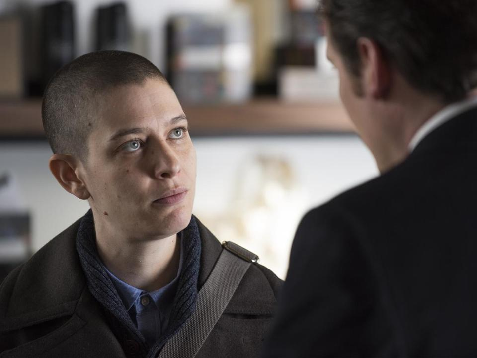 "Asia Kate Dillon in a scene from ""Billions."""
