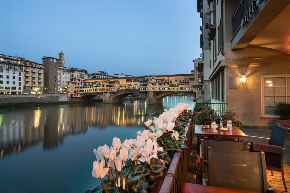 Hotel Lungarno has a prime location on the Arno River.