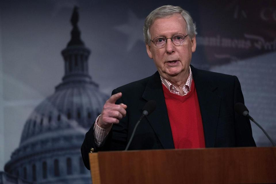 Senate majority leader Mitch McConnell, the top Republican in the Senate, is someone Trump has had to learn to endure.